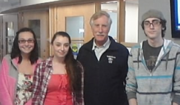 Students Meet with Angus King